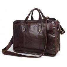 Практичная деловая сумка для мужчины из натуральной кожи Tiding Bag 7345Q - Royalbag