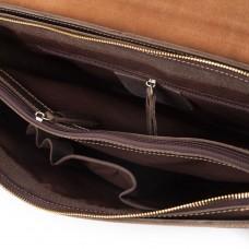 Коричневый мужской портфель из натурально кожи Tiding Bag GA2095R - Royalbag