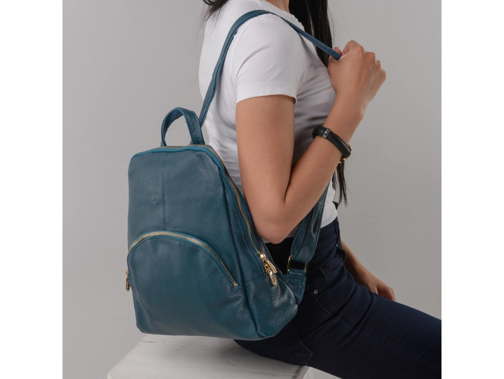 Женский рюкзак Olivia Leather JJH-6082PETR-BP - Royalbag Фото 1
