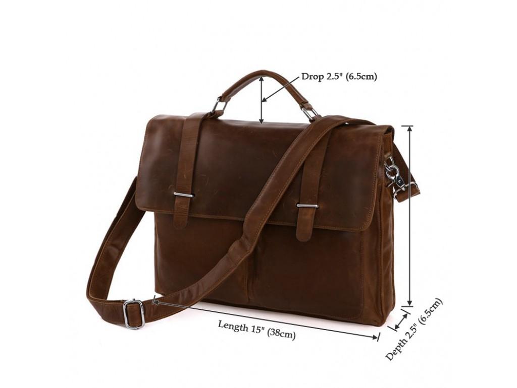 Мужской кожаный портфельTIDING BAG 7100B-1 - Royalbag