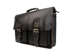Мужской кожаный портфель TIDING BAG 7105C - Royalbag