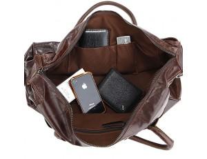 Дорожная мужская  компактная сумка телячья кожа J&M 7079Q  - Royalbag