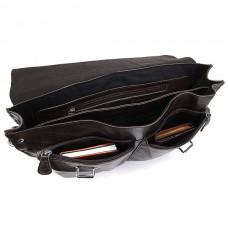Сумка-портфель мужская кожаная серая Tiding Bag 6057J - Royalbag