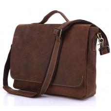 Сумка мужская кожаная через плечо для ноутбука Tiding Bag 7108R-1 - Royalbag
