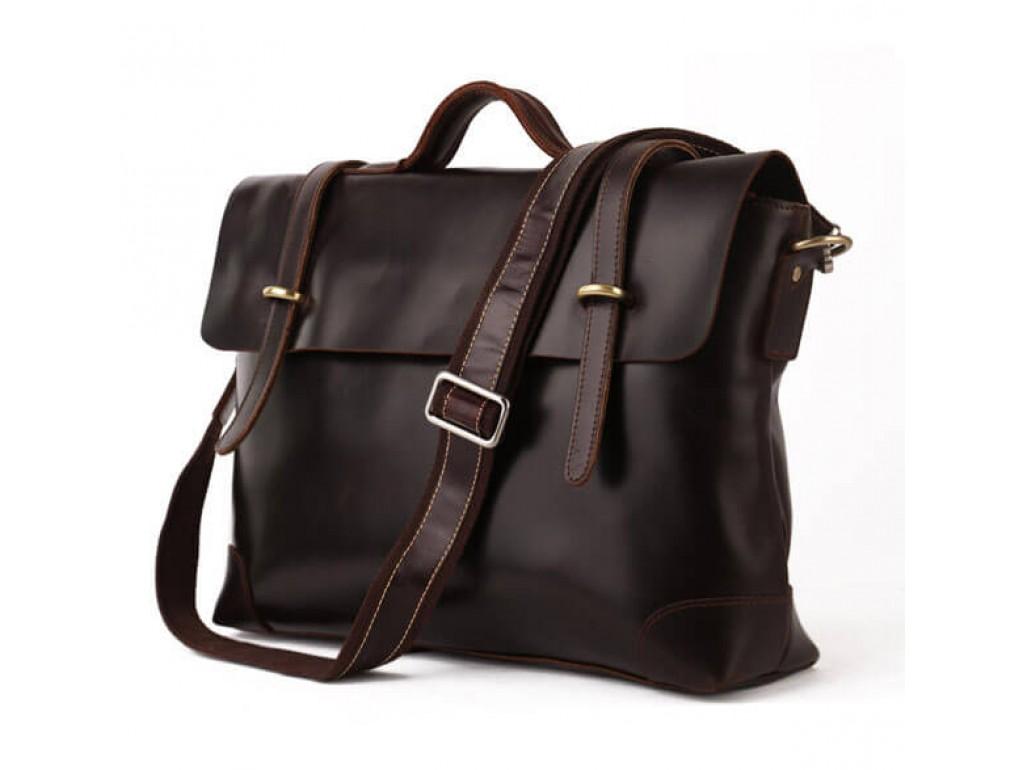 Мужской кожаный портфель TIDING BAG 7082C - Royalbag Фото 1