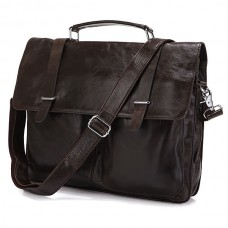 Сумка-портфель мужская кожаная коричневая Tiding Bag 6057J - Royalbag