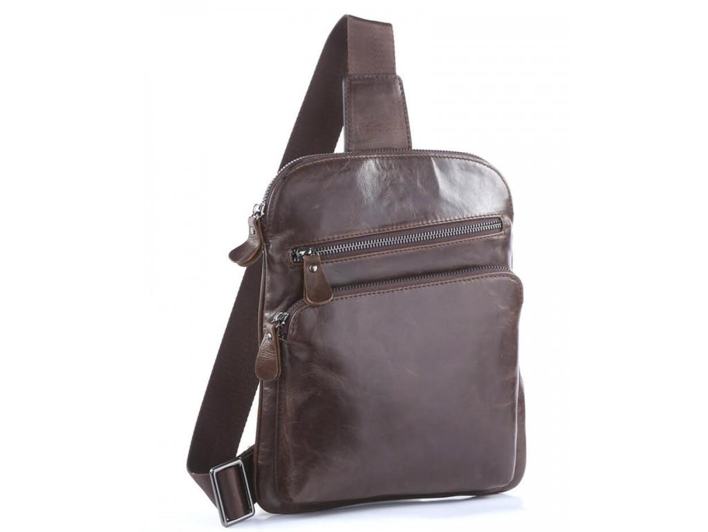Мужской кожаный рюкзак-слинг на одно плечо Tiding Bag 7195C - Royalbag Фото 1