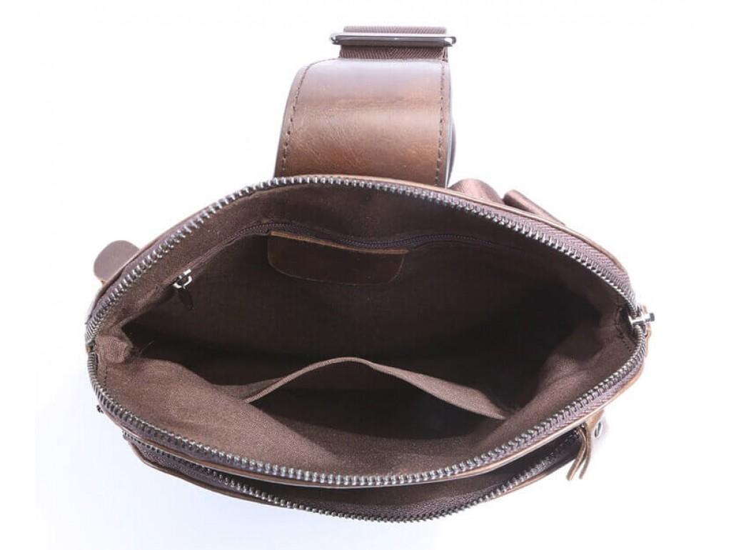 Мужской кожаный рюкзак-слинг на одно плечо Tiding Bag 7195C - Royalbag