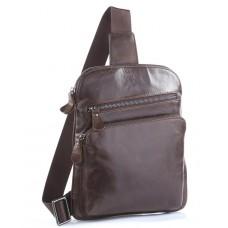 Мужской кожаный рюкзак-слинг на одно плечо Tiding Bag 7195C - Royalbag Фото 2
