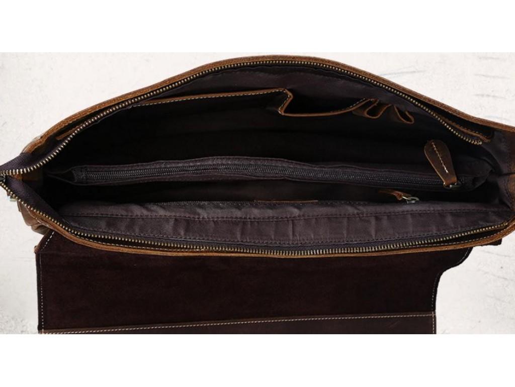 Мужской кожаный портфель TIDING BAG T8069-1 - Royalbag
