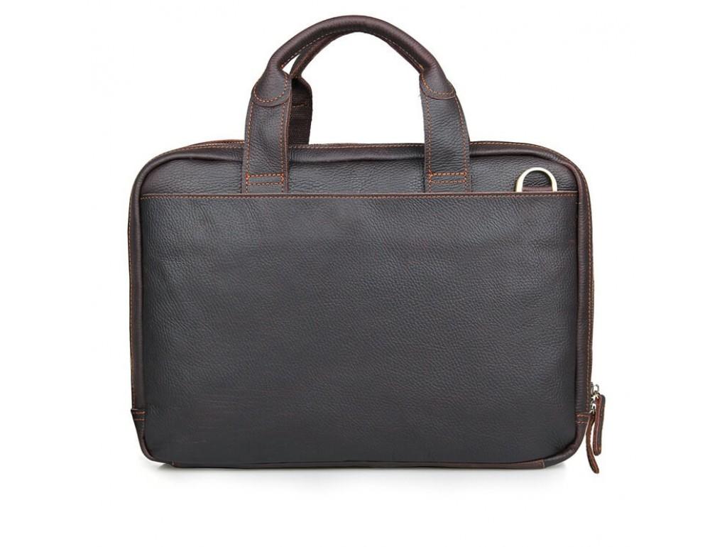 Стильная деловая мужская кожаная сумка для ноутбука и документов Tiding Bag 7092Q - Royalbag