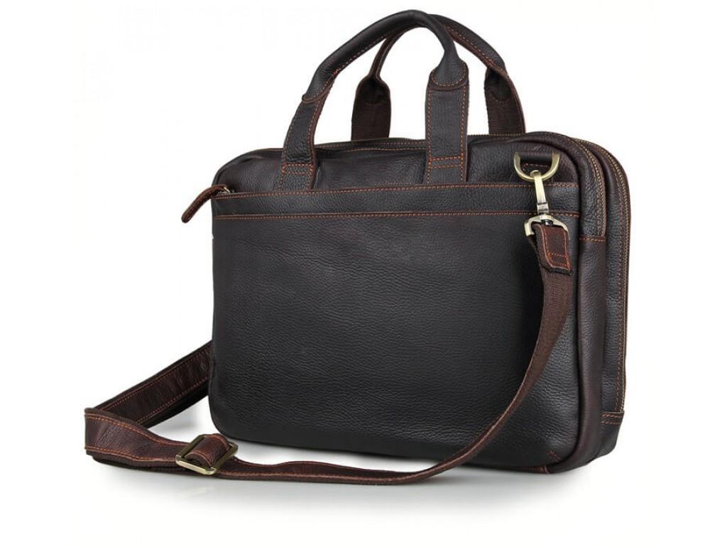 Стильная деловая мужская кожаная сумка для ноутбука и документов Tiding Bag 7092Q - Royalbag Фото 1