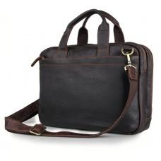 Стильная деловая мужская кожаная сумка для ноутбука и документов Tiding Bag 7092Q - Royalbag Фото 2