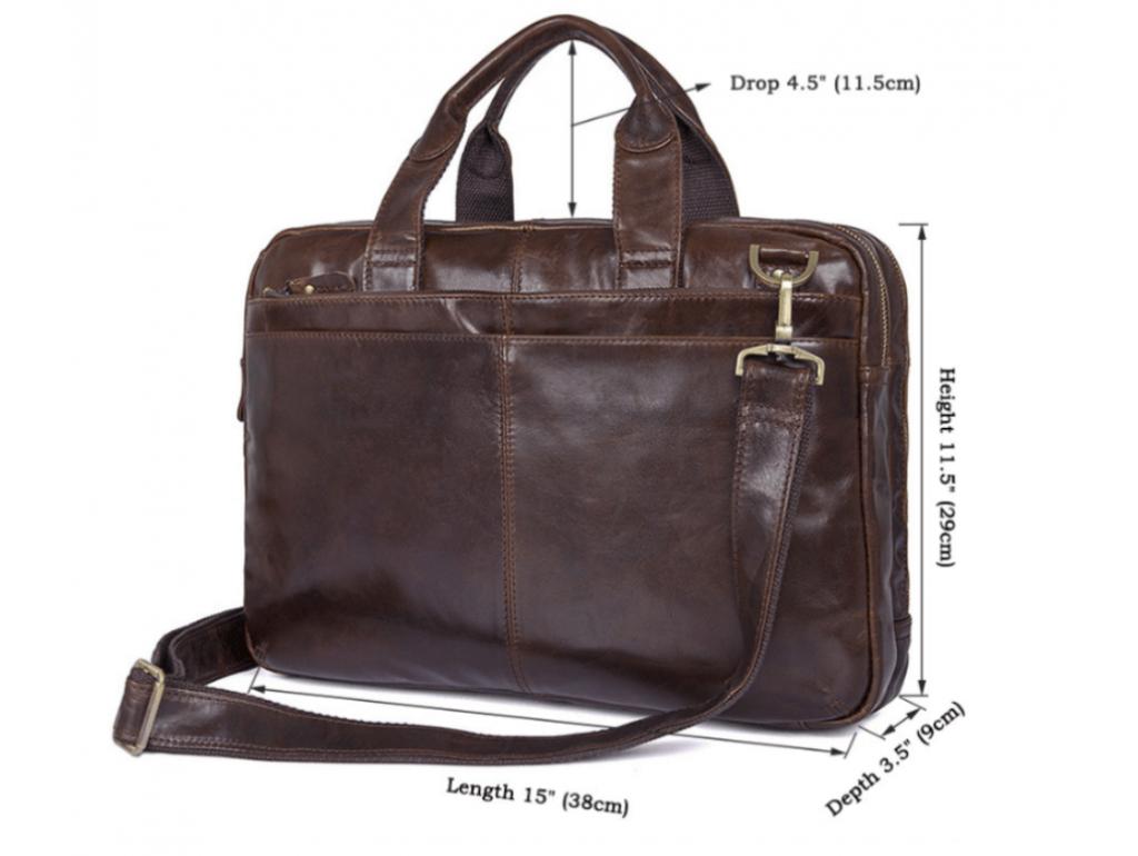 Винтажная мужская кожаная сумка для документов и ноутбука Tiding Bag 7092-3C - Royalbag