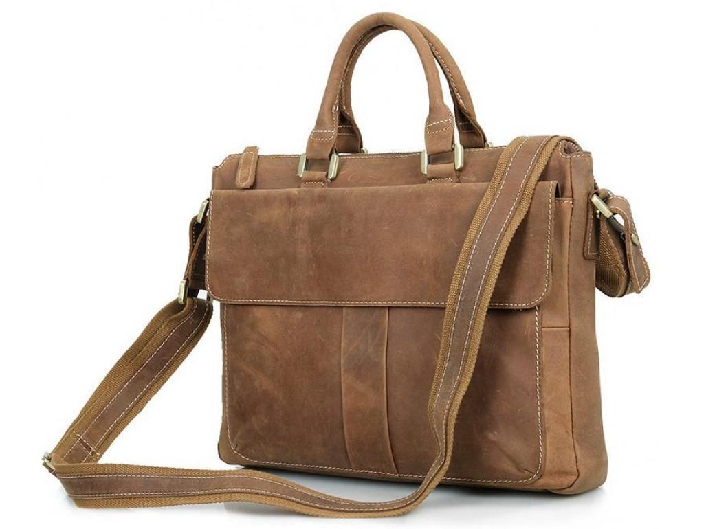 Кожаная сумка Tiding Bag 7113B-2 - Royalbag Фото 1