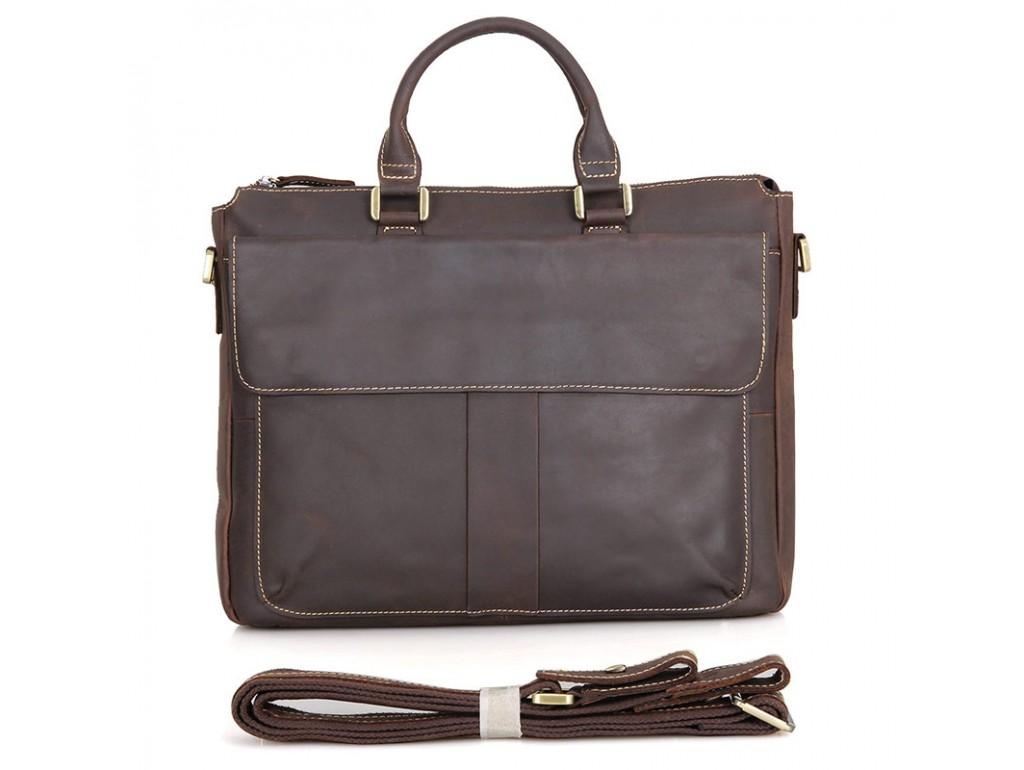 Кожаная сумка Tiding Bag 7113R-2 - Royalbag