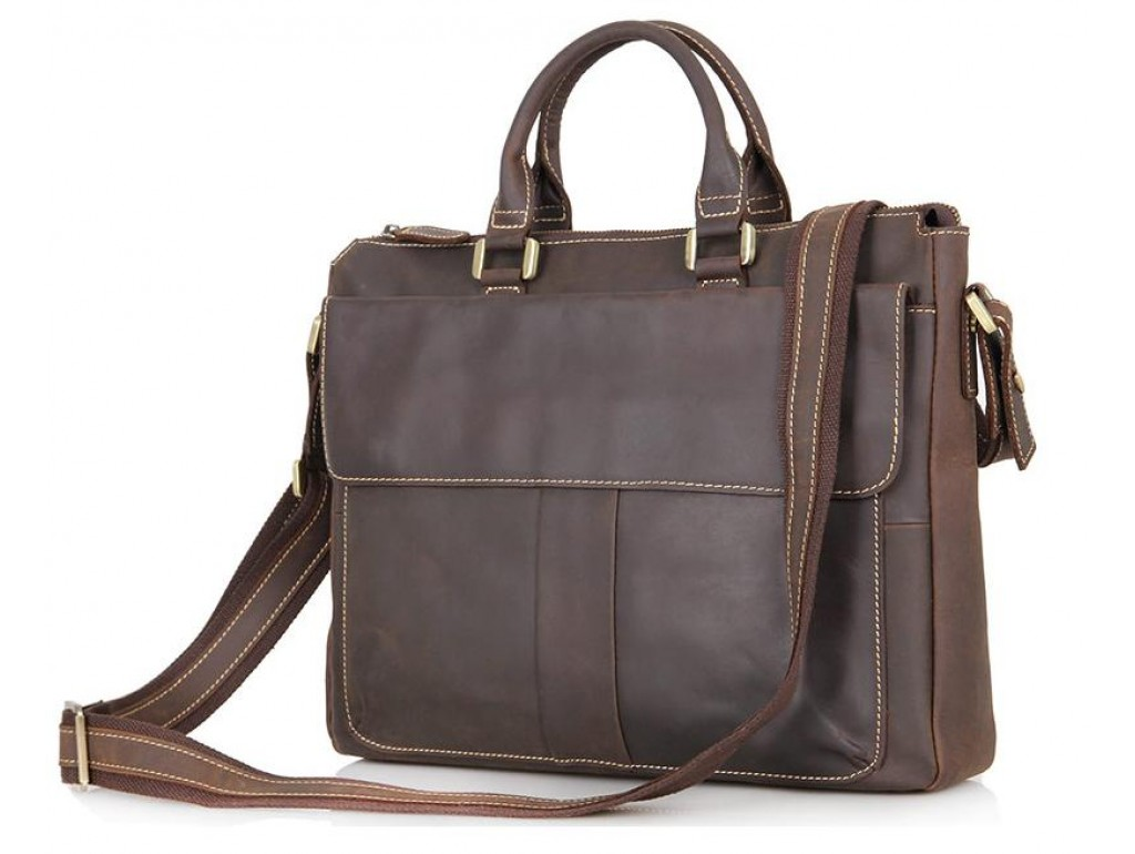 Кожаная сумка Tiding Bag 7113R-2 - Royalbag Фото 1