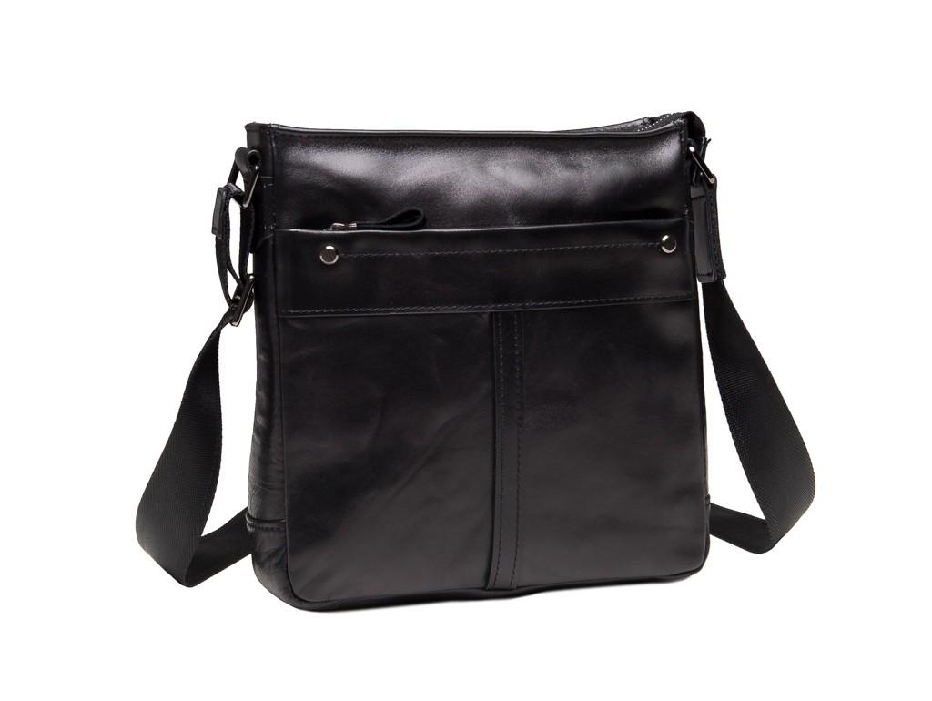 Мужская сумка через плечо из гладкой натуральной кожи Tiding Bag 8030A - Royalbag