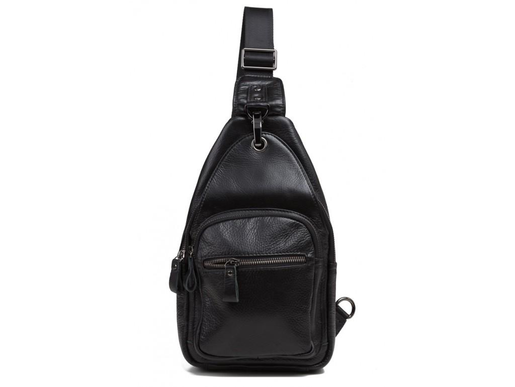 Сумка на грудь мужская кожаная Tiding Bag 8509A - Royalbag