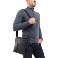 Мужской кожаный мессенджер с клапаном Tiding Bag A25-238-1A