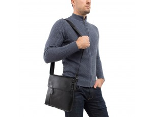 Чоловічий шкіряний месенджер з клапаном Tiding Bag A25-238-1A - Royalbag