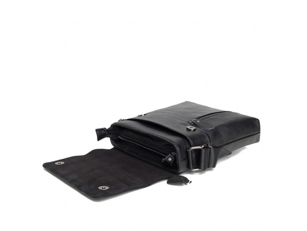 Мужской кожаный мессенджер с клапаном Tiding Bag A25-238-1A - Royalbag