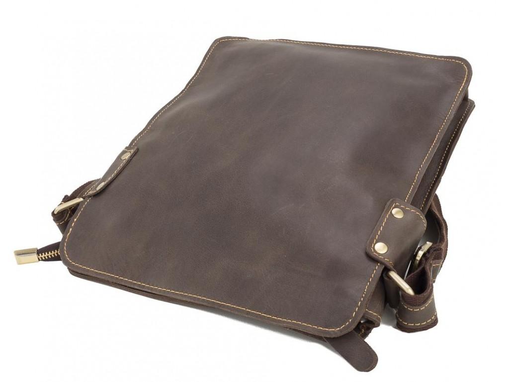 Повседневная мужская наплечная кожаная сумка на молнии Tiding Bag G8856C - Royalbag