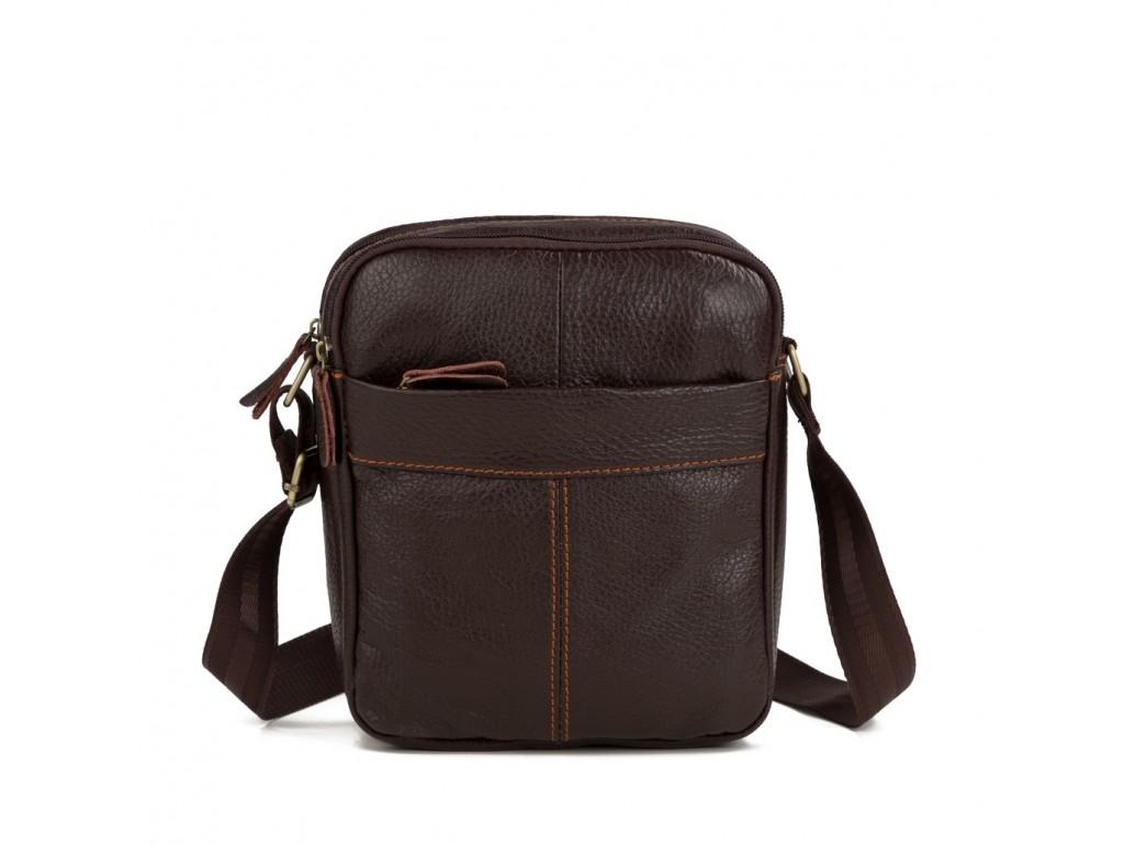 Мужская кожаная сумка через плечо маленькая Tiding Bag M38-1025C - Royalbag