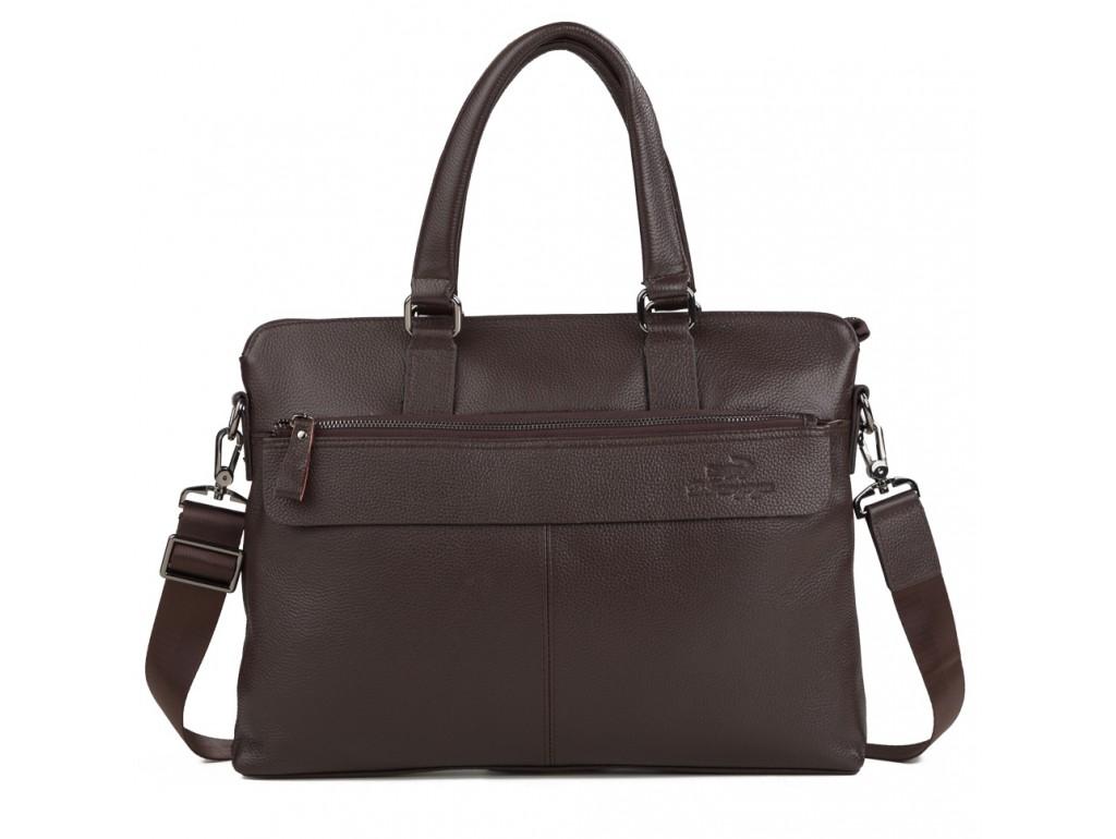 Сумка мужская для документов из натуральной кожи Tiding Bag M38-6901-3C - Royalbag
