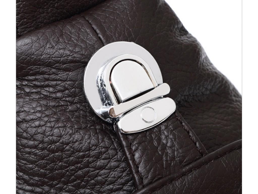 Сумка-мессенджер на грудь мужская кожаная черная Tiding Bag M38-8150A - Royalbag