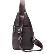 Мужской кожаный слинг на одно плечо коричневый Tiding Bag M38-8150C - Royalbag