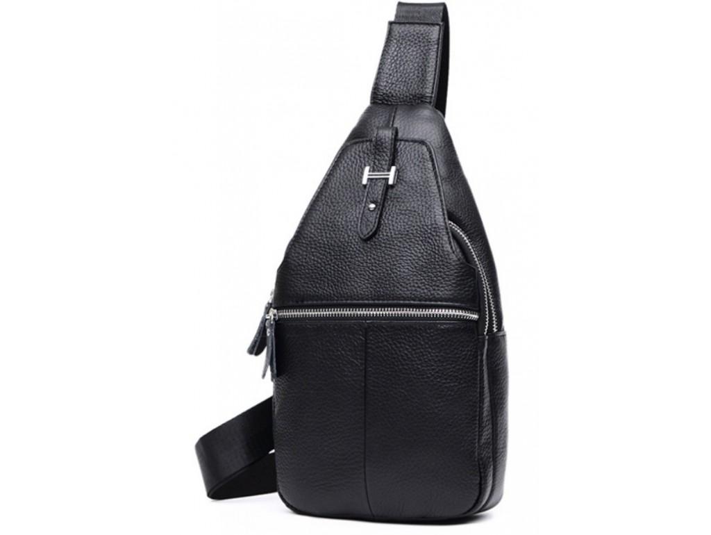 Мужской кожаный рюкзак на одну шлейку Tiding Bag M38-8151A - Royalbag
