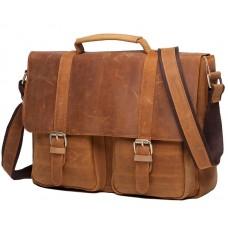 Мужской кожаный портфель TIDING BAG t0001 - Royalbag