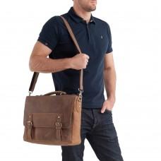 Мужской портфель из натуральной кожи в винтажном стиле Tiding Bag t0002 - Royalbag