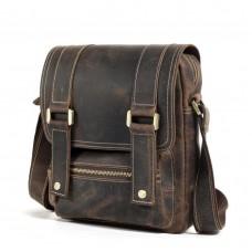 Мужской мессенджер из винтажной коричневой кожи Tiding Bag T1172