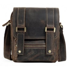Мужской мессенджер из винтажной коричневой кожи Tiding Bag T1172 - Royalbag
