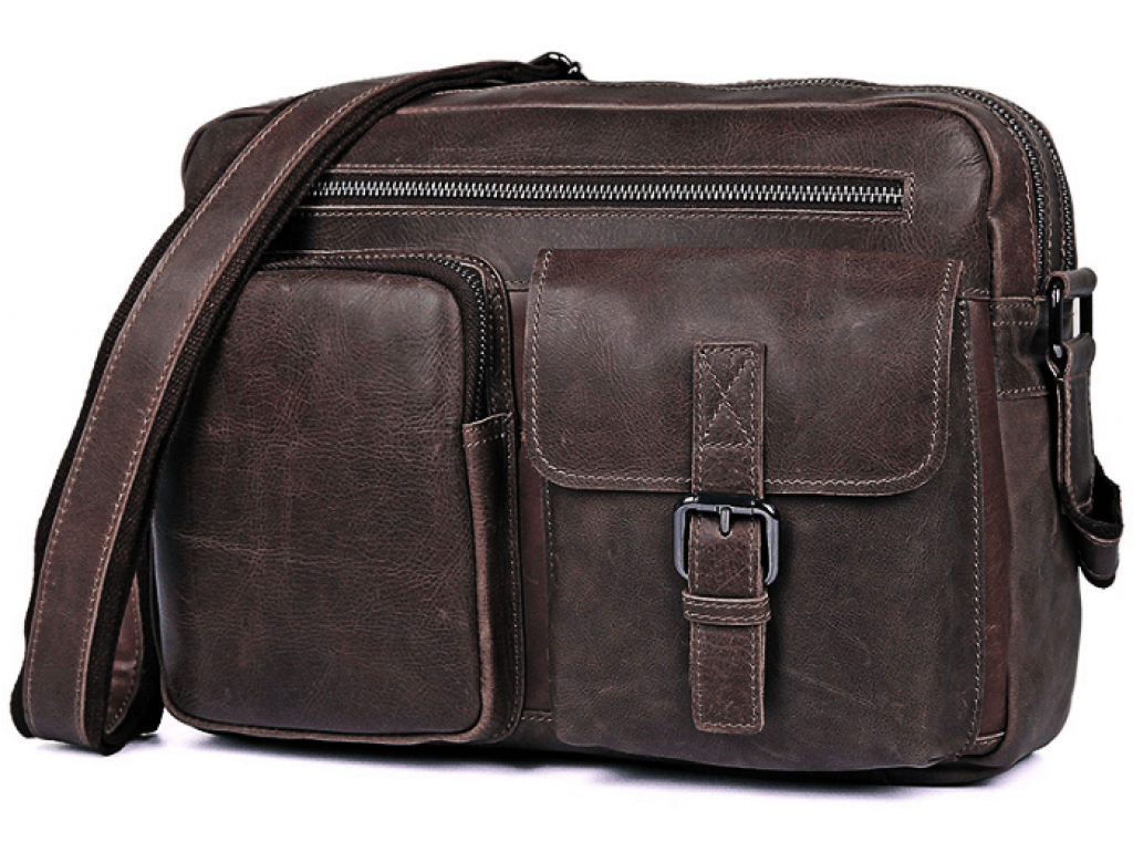 Мужская сумка через плечо Tiding Bag 1017B - Royalbag Фото 1