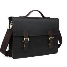 Мужской кожаный портфель TIDING BAG T1148 - Royalbag Фото 2