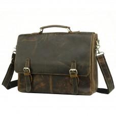 Мужской кожаный портфель TIDING BAG t0021 - Royalbag