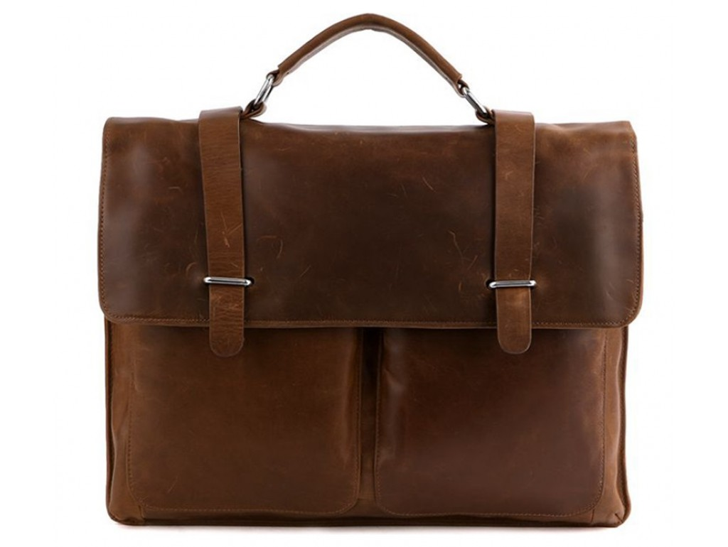 Мужской кожаный портфельTIDING BAG 7100B-1 - Royalbag Фото 1