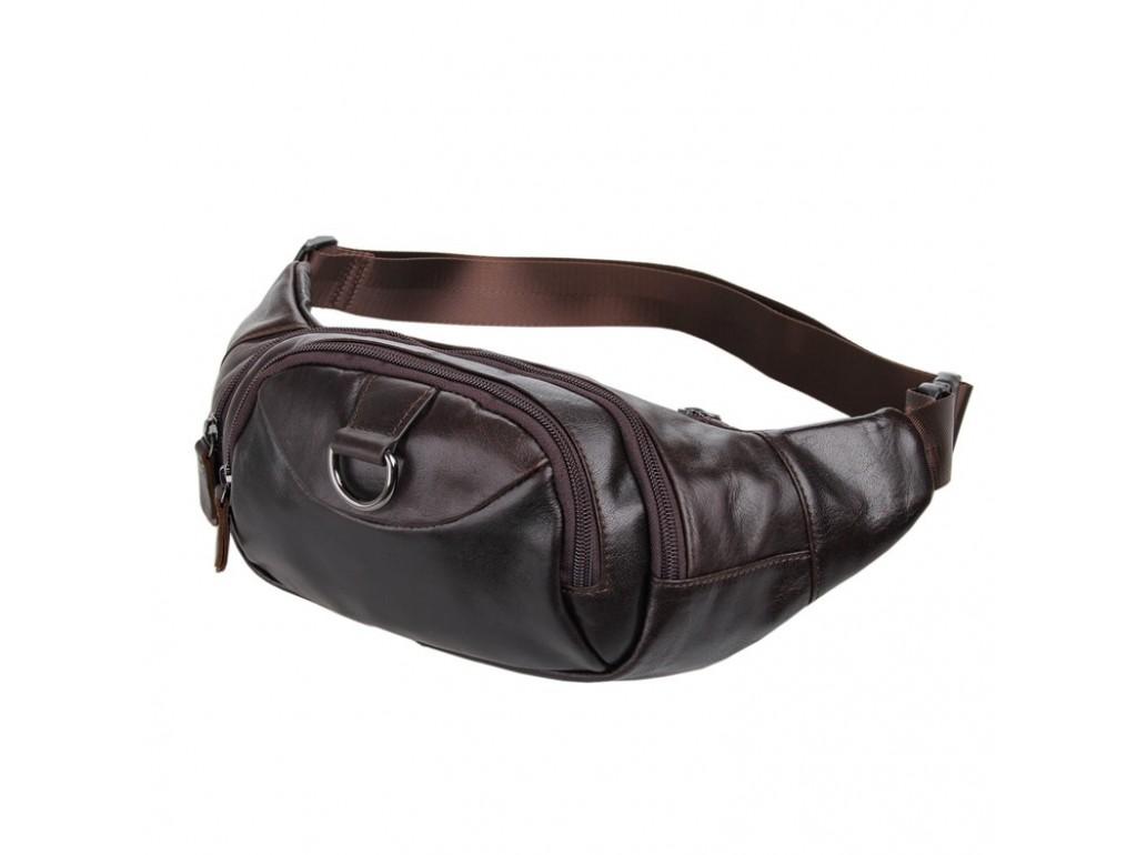 Кожаная сумка на пояс Noterdam - Royalbag Фото 1