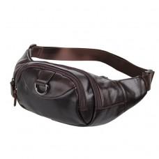 Кожаная сумка на пояс Noterdam - Royalbag Фото 2