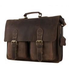 Мужской кожаный портфель TIDING BAG 7105B - Royalbag
