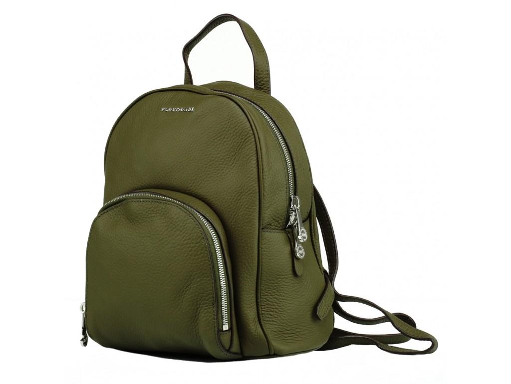 Жіночий шкіряний міський рюкзак зелений Forstmann F-P58GR - Royalbag