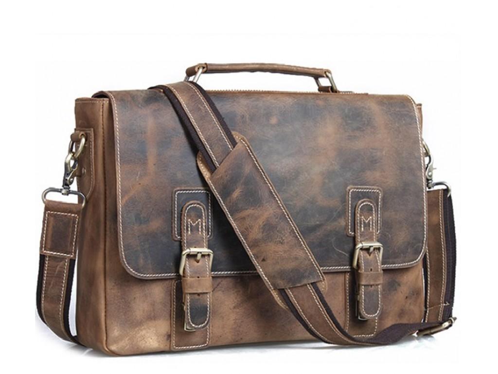 Мужской кожаный портфель TIDING BAG T8069B - Royalbag Фото 1