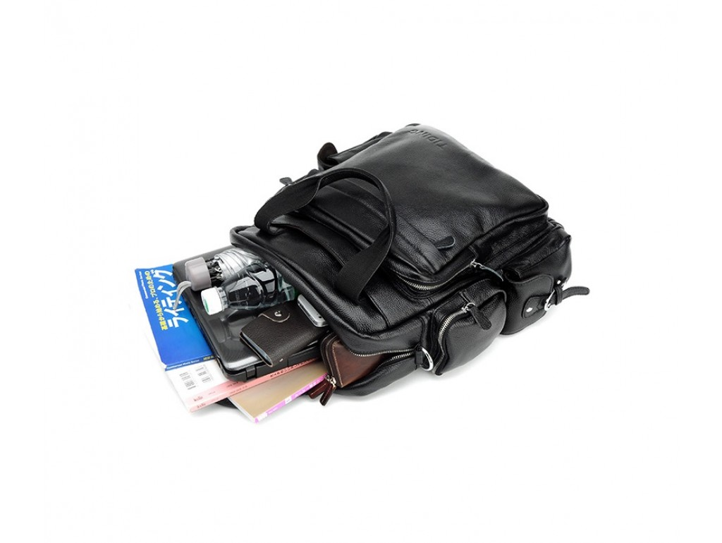 Рюкзак кожаный TIDING BAG T3069 - Royalbag