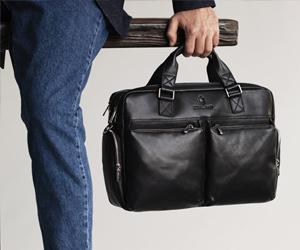 мужская сумка из гладкой кожи