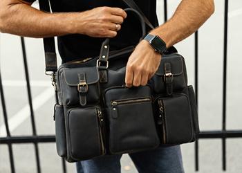 мужская сумка серая