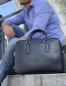 чоловіча сумка для ноутбука шкіряна