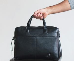 мужская кожаная сумка с зернистой кожи